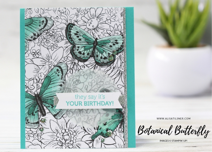 Botanical Butterfly Designer Series Paper