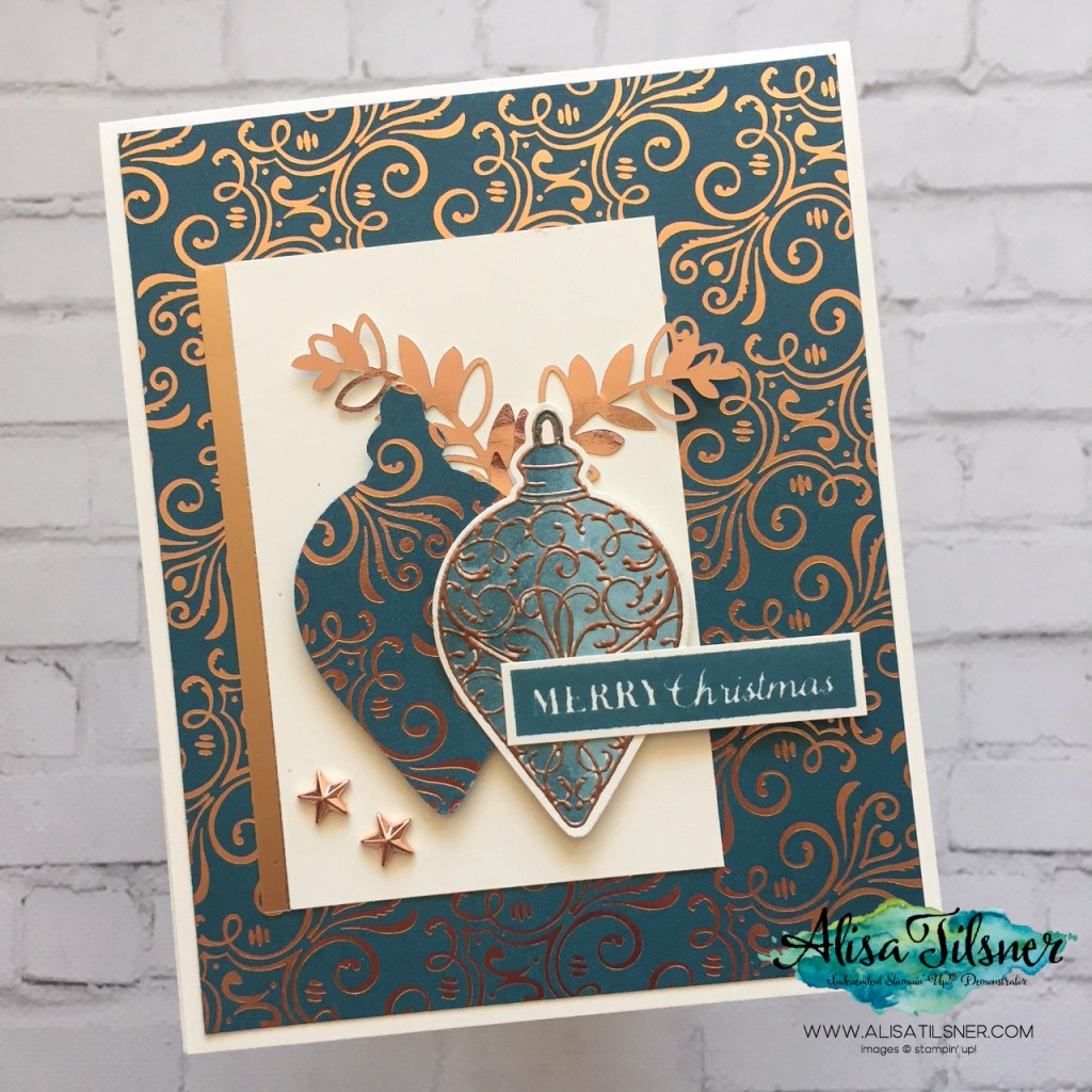 Brightly Gleaming Suite by Stampin' Up!  Card created by Alisa Tilsner