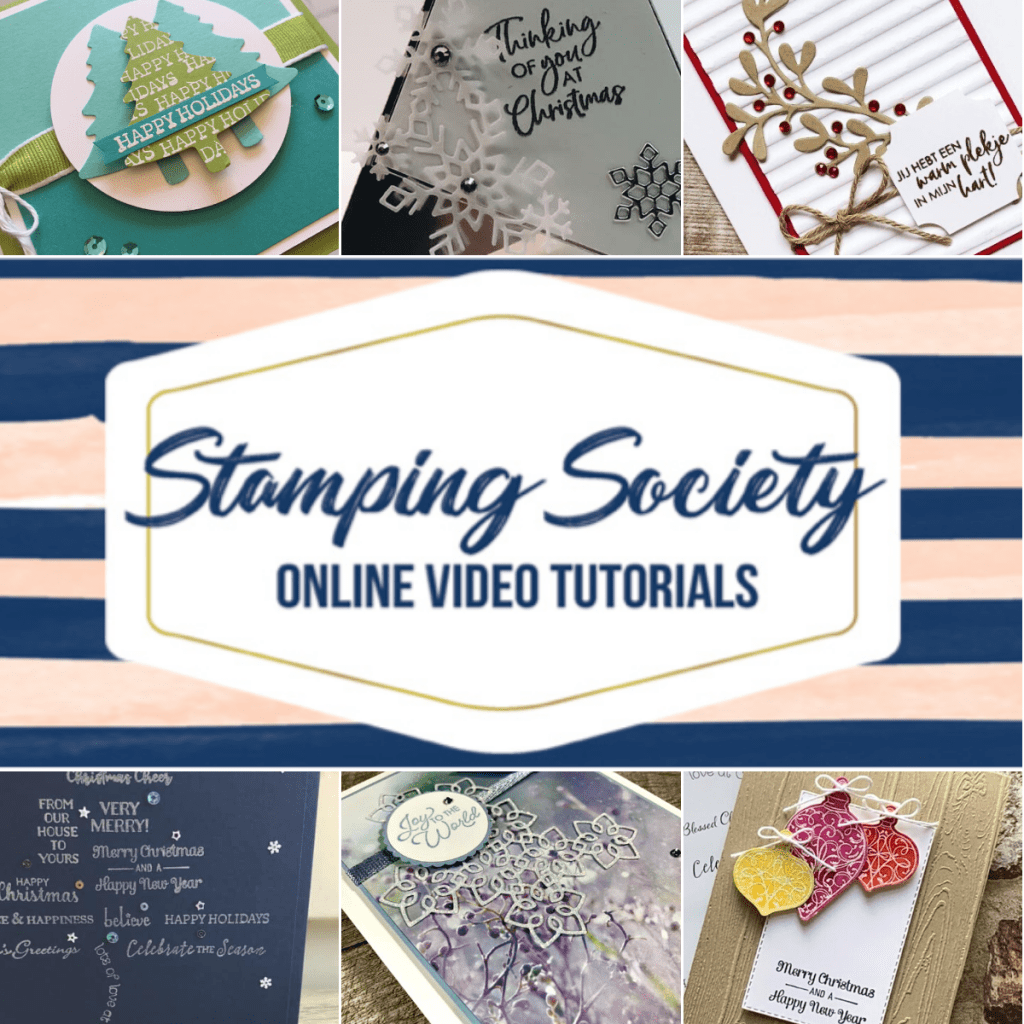Stamping Society Online Video Tutorials.  November features Itty Bitty Christmas Stamp Set.