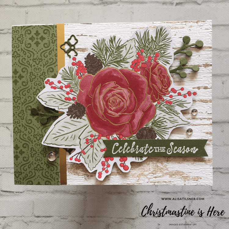 Christmastime is Here DSP by Stampin' Up!.  Card CASED from Lynn Powell, made by Alisa Tilsner