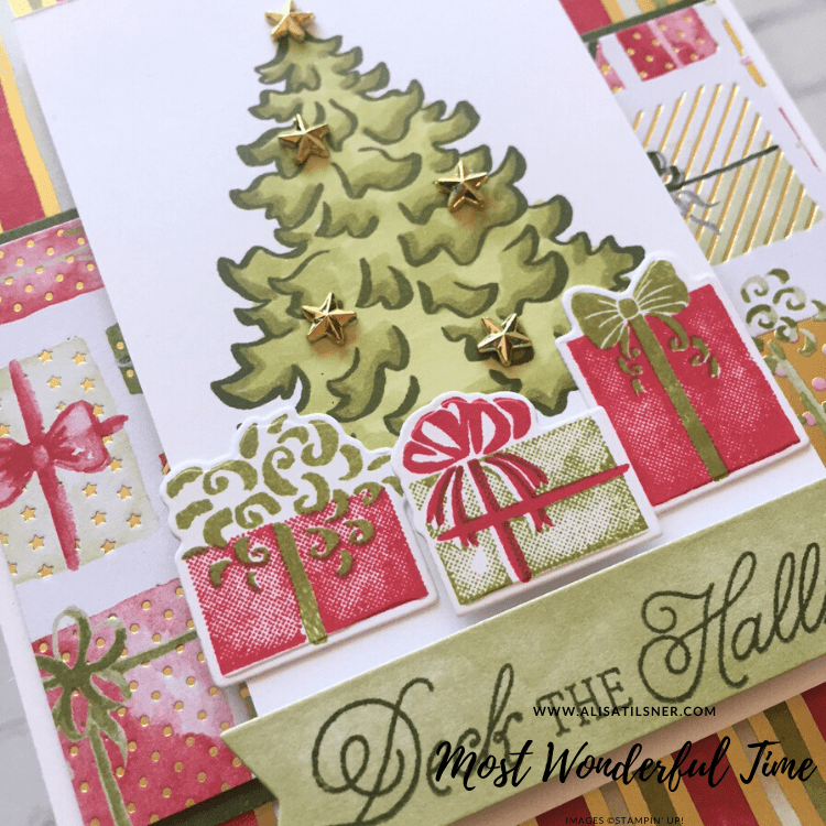 Most Wonderful Time Product Medley by Stampin' Up. Card created by Alisa Tilsner