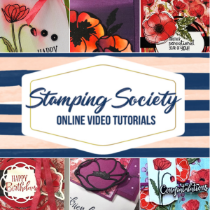 Stamping Society Online Video Class featuring Peaceful Poppies Suite