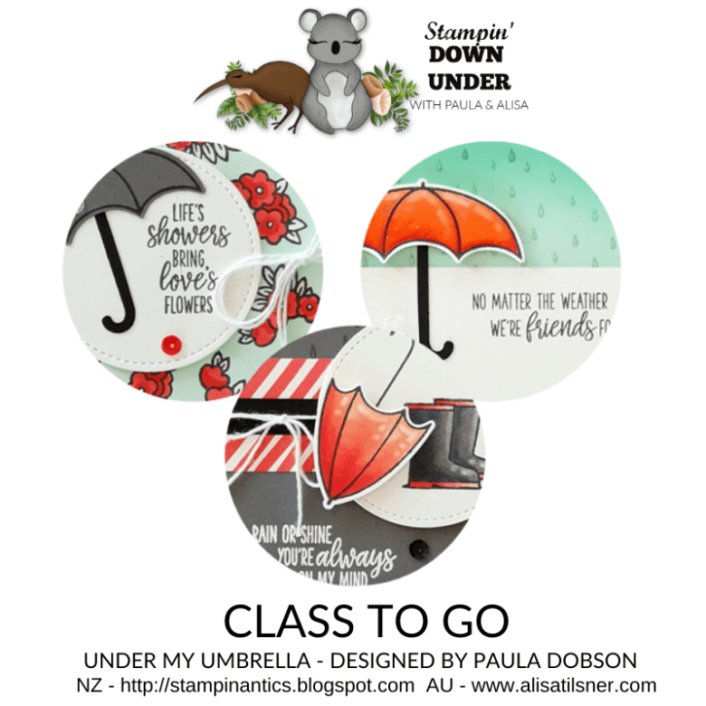 Stampin' Down Under Class to Go designed by Paula Dobson.  Closes 10th January