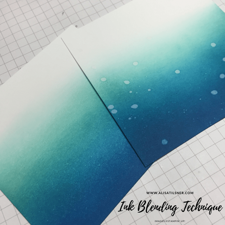 How to Ink Blend with Stampin' Up! Inks by Alisa Tilsner
