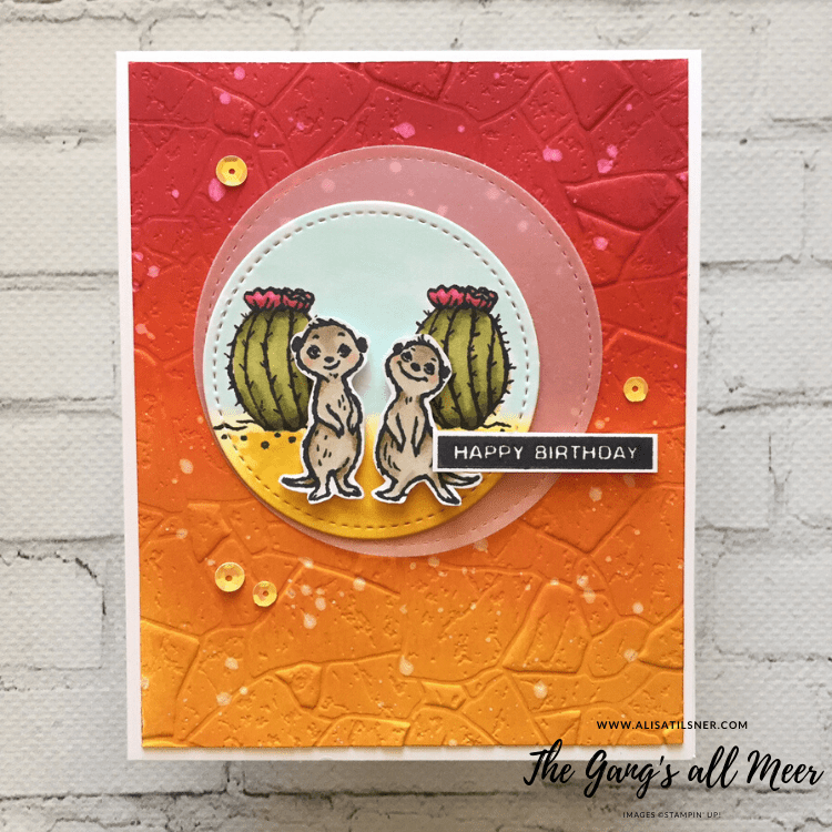 The Gang's All Meer FREE Level 1 Stamp Set by Stampin' Up!.  Card created by Alisa Tilsner.  All products available from Alisa.