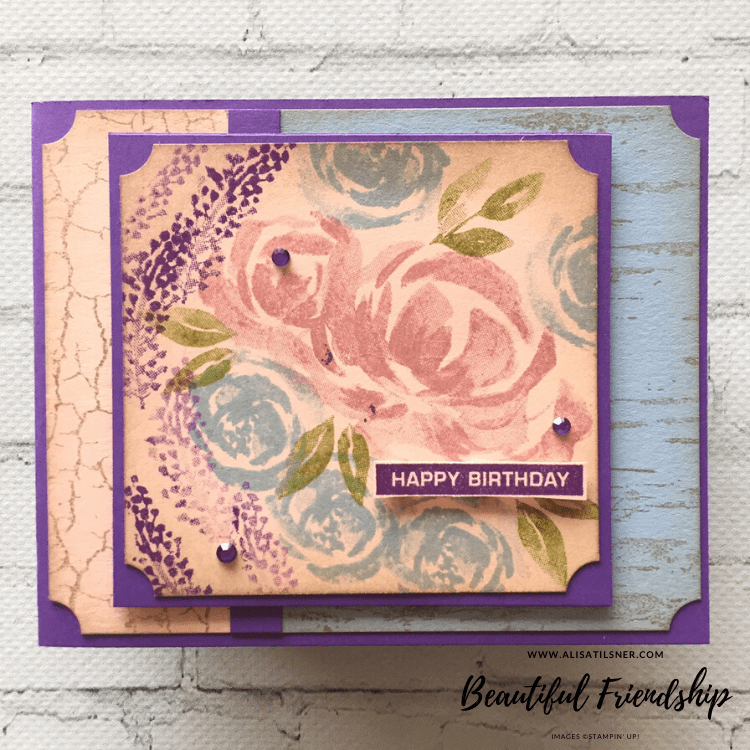 Stampin' Up! Beautiful Friendship Birthday Cards created by Alisa Tilsner