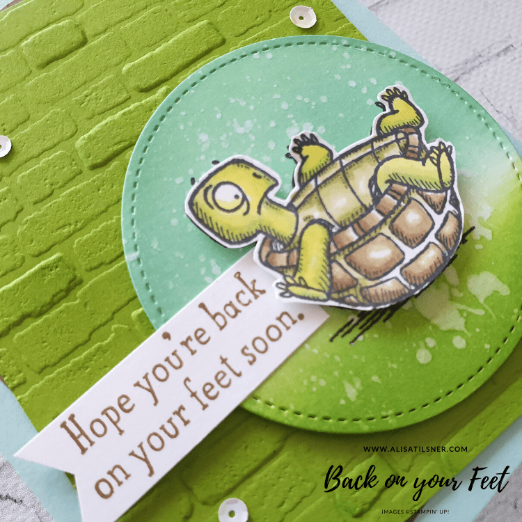 Stampin' Up! Back on your Feet Stamp Set.  Card created by Alisa Tilsner - Independent Stampin' Up! Demonstrator in Australia.  Blog also features a video.