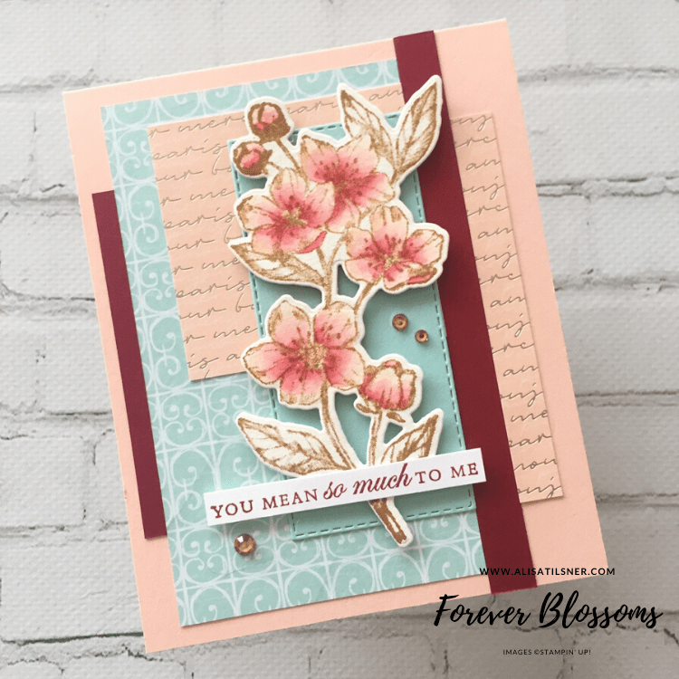 Farewell Parisian Blossoms DSP!!  The DSP is on the retiring list, grab it while stocks last!  Card by Alisa Tilsner - Independent Stampin' Up! Demonstrator in Australia.