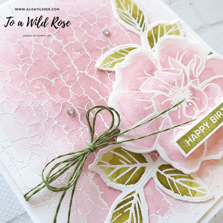 Stampin' Up! Crackle Paint Background Set is retiring soon.  Available from Alisa Tilsner - Independent Stampin' Up! Demonstrator