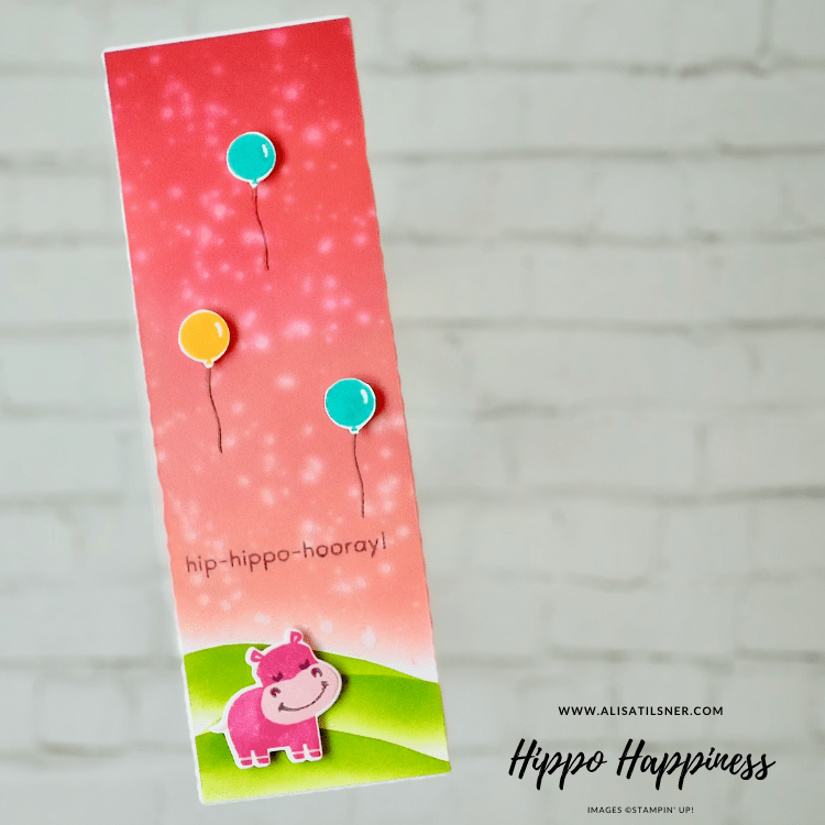 Hippo Happiness Card by Alisa Tilsner