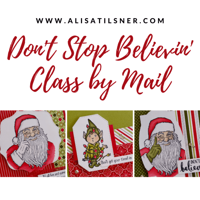 Class by Mail: Don't Stop Believin' designed by Alisa Tilsner