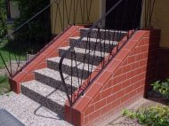 Treppe mit Klinker neu erstellt