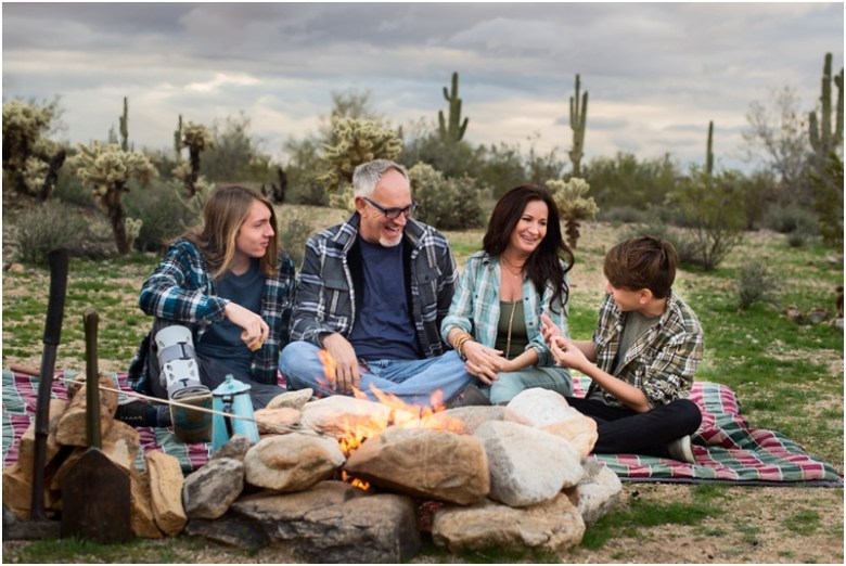 Arizona Family Camping Portrait Session at the White Tank Mountains
