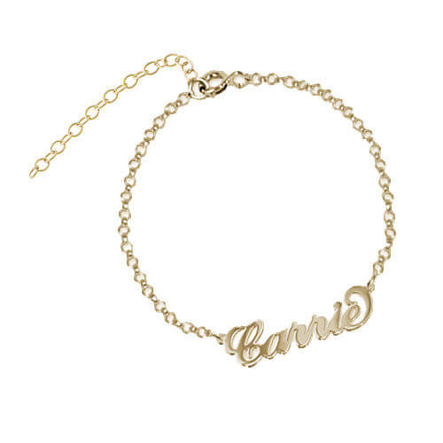 18k Gold-Plated Carrie Personalized Bracelet