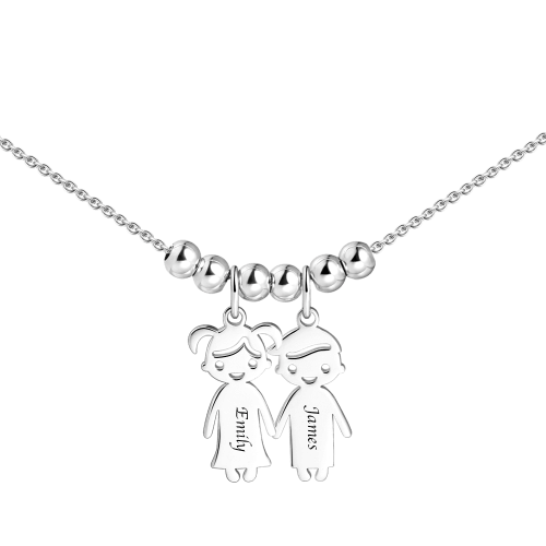 Mother's Necklace With Children Charms