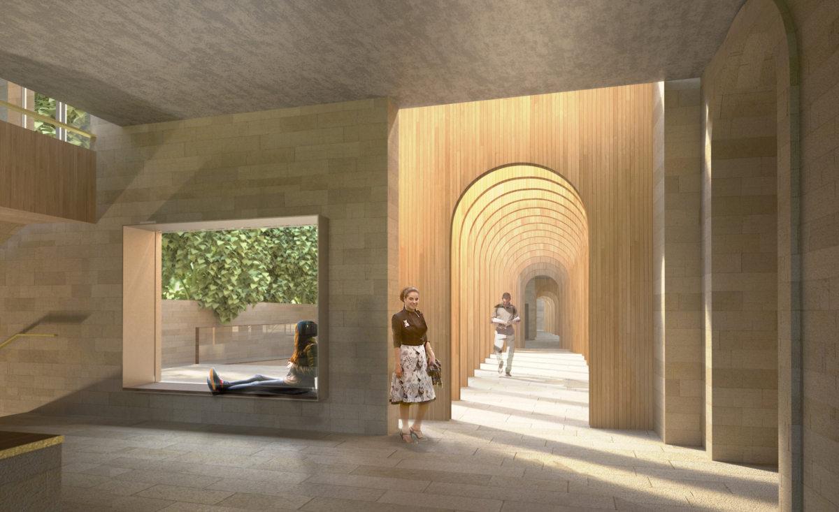 Glulam At Exeter College Cohen Quad Alison Brooks Architects