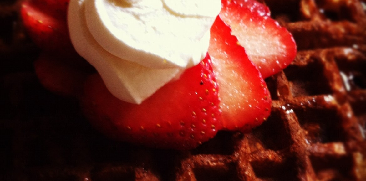 waffles with strawberries, rise and shine waffles, yummy breakfast