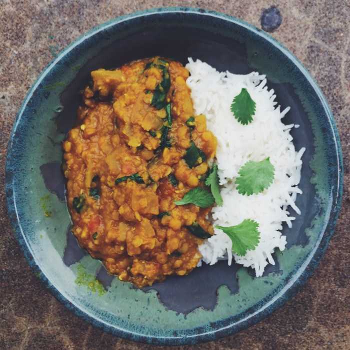 Red Lentils (Daal) and Rice