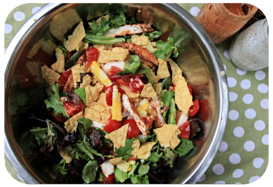 salad with chicken, salads as a meal, main dish