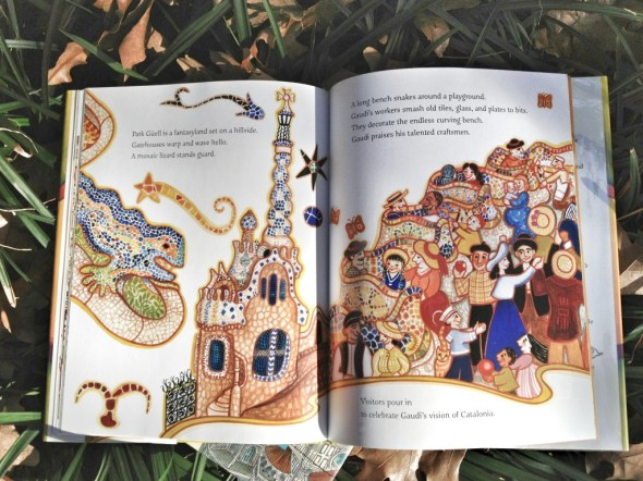 gaudi children's books, beautiful illustrations, books about antoni gaudi, lovely picture books, stories for children, nonfiction (2)