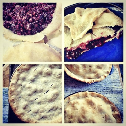 being grateful, instagram of pies, pie instagram, blackberry pie, apple pie, making pie