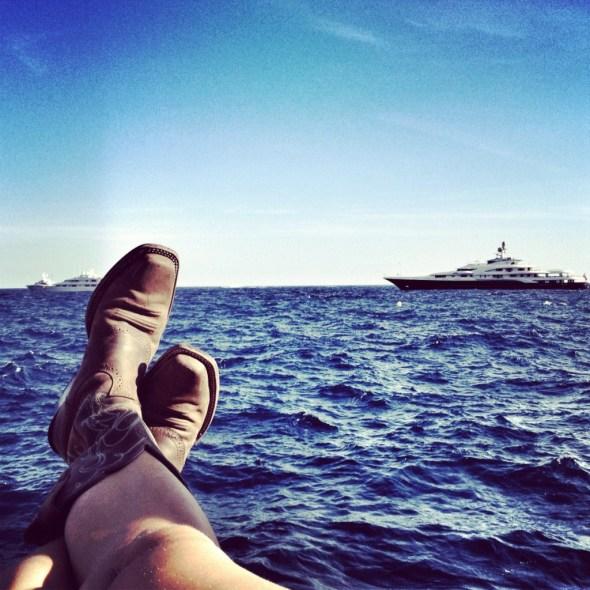 Monaco, Port of Monaco, Mediterranean Cruise, What to do in Monaco, Monte-Carlo, Monaco-Ville, Europe, European Travel, cowboy boots on the Mediterranean Sea