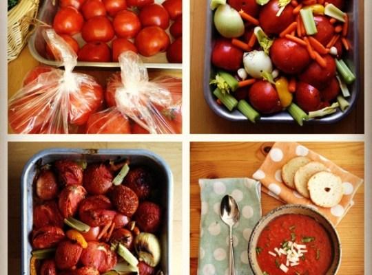 tomato soup, roasted tomato basil soup, steps to making easy tomato soup, homemade tomato soup steps