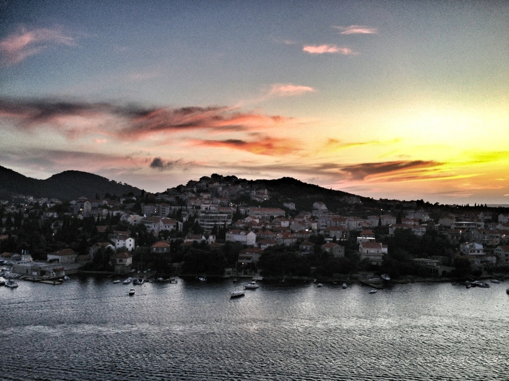 Mediterranean Cruise, Old City , Dubrovnik, Croatia, Mediterranean Ports, European Cruise, leaving dubrovnik, sunset cruise
