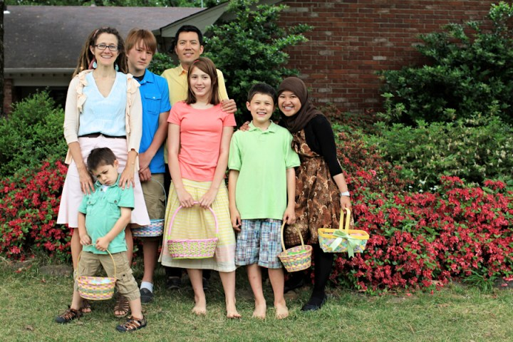 easter sunday, easter family pictures, easter egg hunt, cousins, exchange student