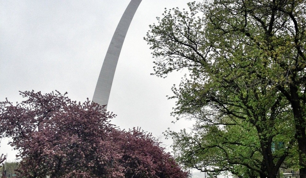 Riverfront Park, St. Louis, Old Courthouse, One Rainy Day In St. Louis, things to do in St. Louis, Gateway Arch
