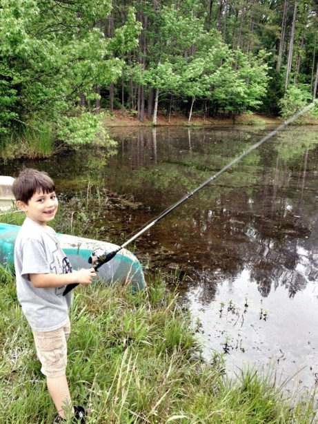 Sandy, Boultinghouse, Farmland, Day On A Farm, Back To Your Roots, LIttle boy fishing in a pond