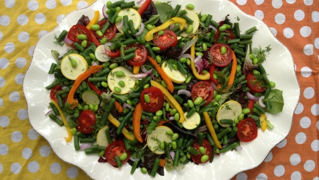 Colorful Summer Salad with Peppers and Edamame, #Bean2Blog, #Soy, #Healthy, Salad Recipes