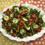 Colorful Summer Salad with Peppers and Edamame