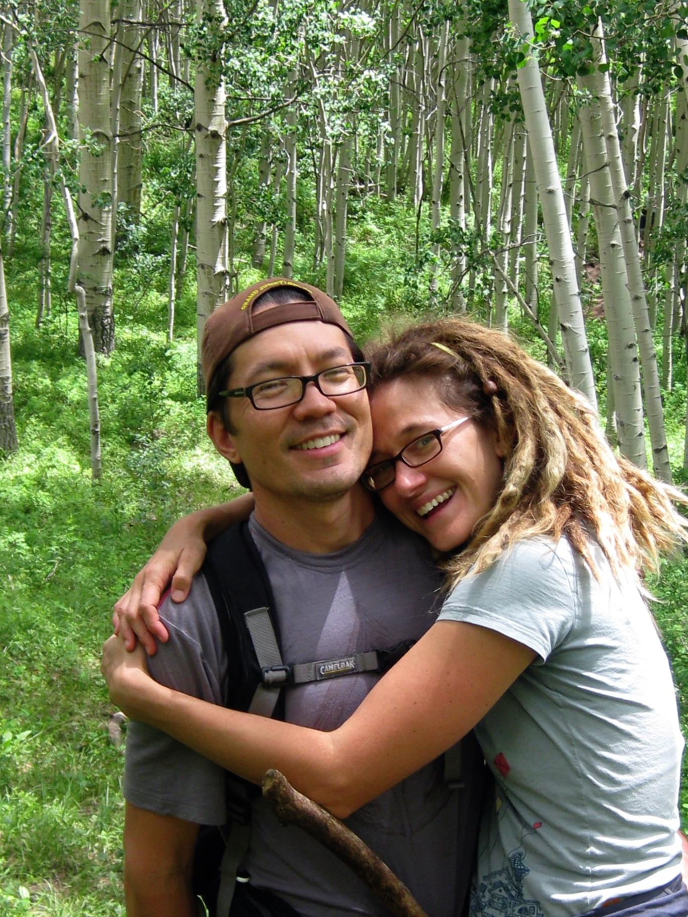 aspen trees, hiking, backpacking, chinos, dreadlocks