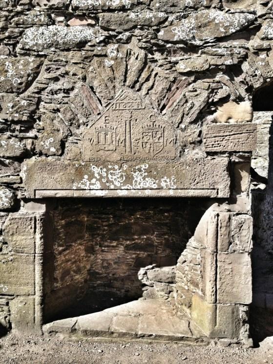 Dunnottar Castle, Stonehaven, Scotland, United Kingdom, Family Crests