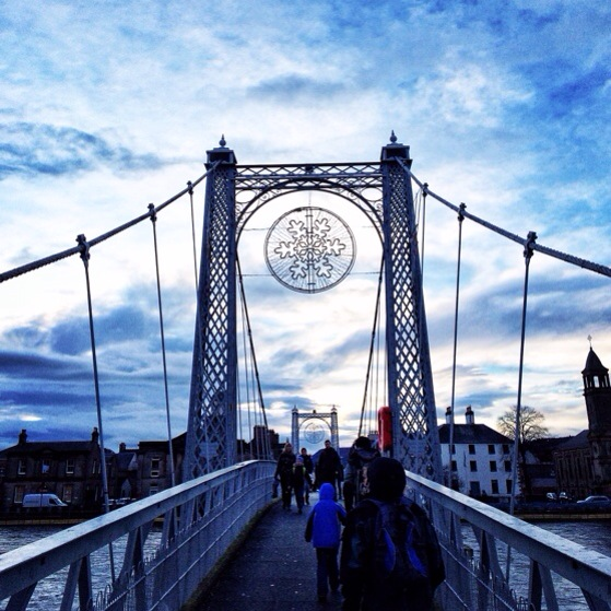 Inverness, Snapshots of Scotland in Winter