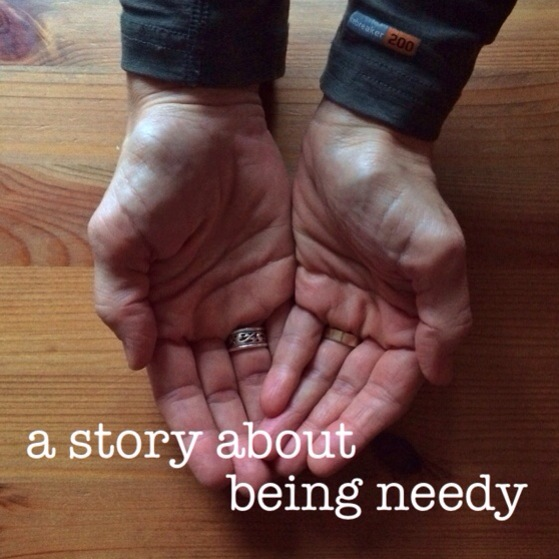 A Story about Being Needy, walking in the dark