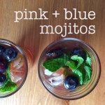 Pink + Blue Mojitos