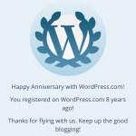 In The Pipeline: 8 Year Blogaversary