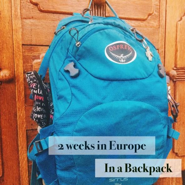 Packing Light, AlisonChino.com, Europe, UK, Travel
