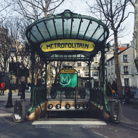 Snapshots of Paris, Paris in Winter, Metro