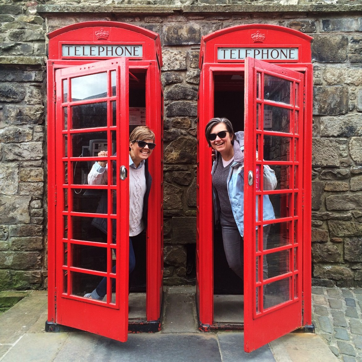 Visiting Edinburgh, Red Phone Booths, UK, Scotland