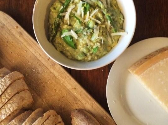 Asparagus Pesto Risotto, Spring Green Risotto