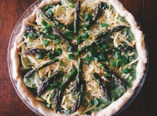 Asparagus, Potato and Ricotta Pie, Breakfast, Quiche, Vegetarian