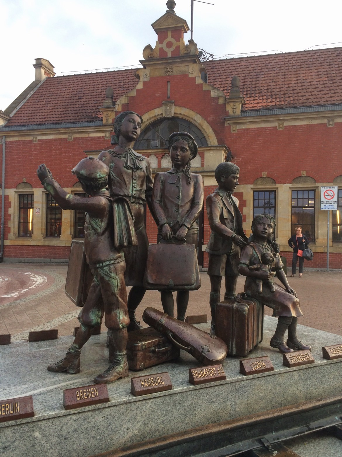 Monument to Evacuated Children, Gdansk Glowny Train Station, Poland