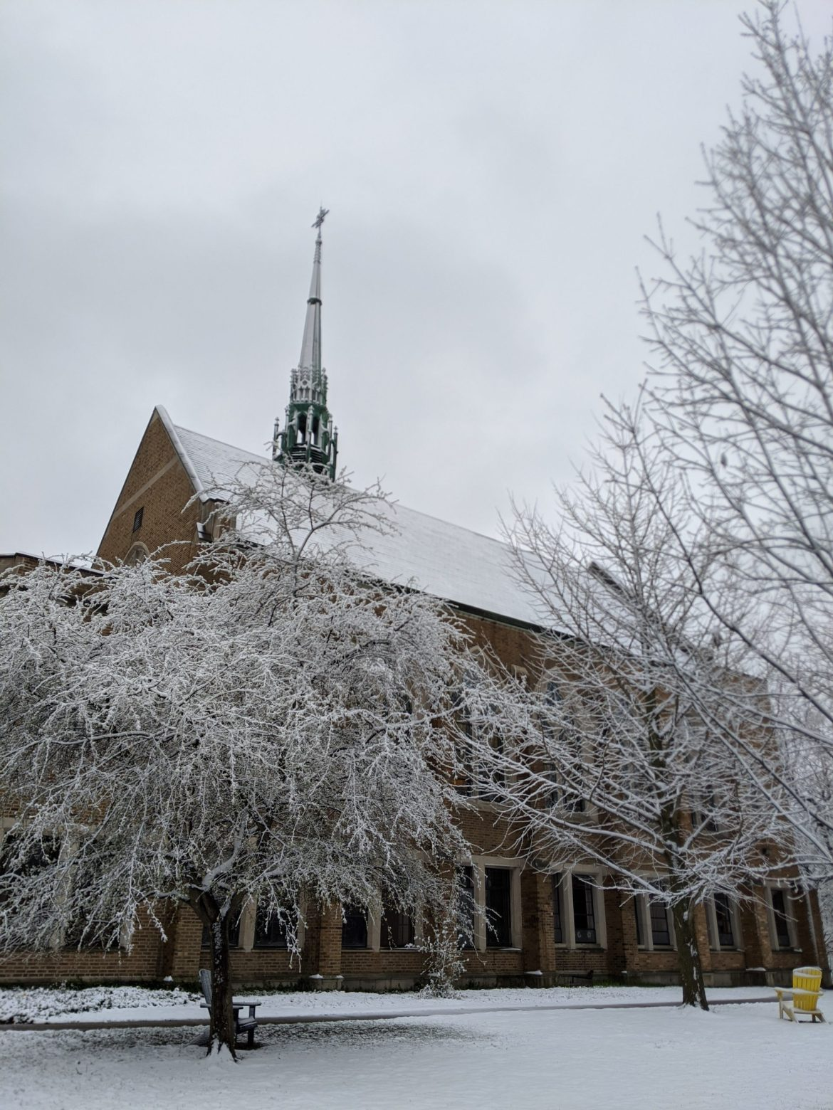 Snow in April at Augustana