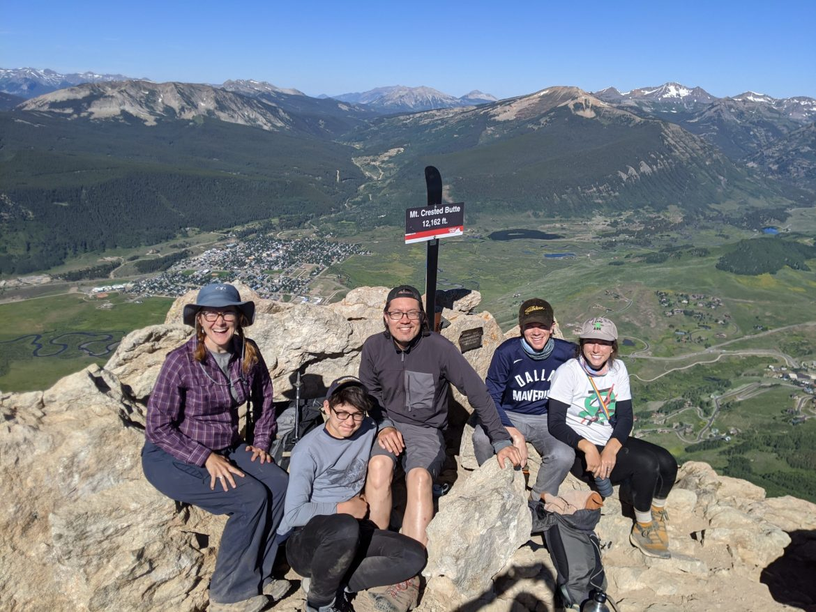 On top of Mt Crested Butte