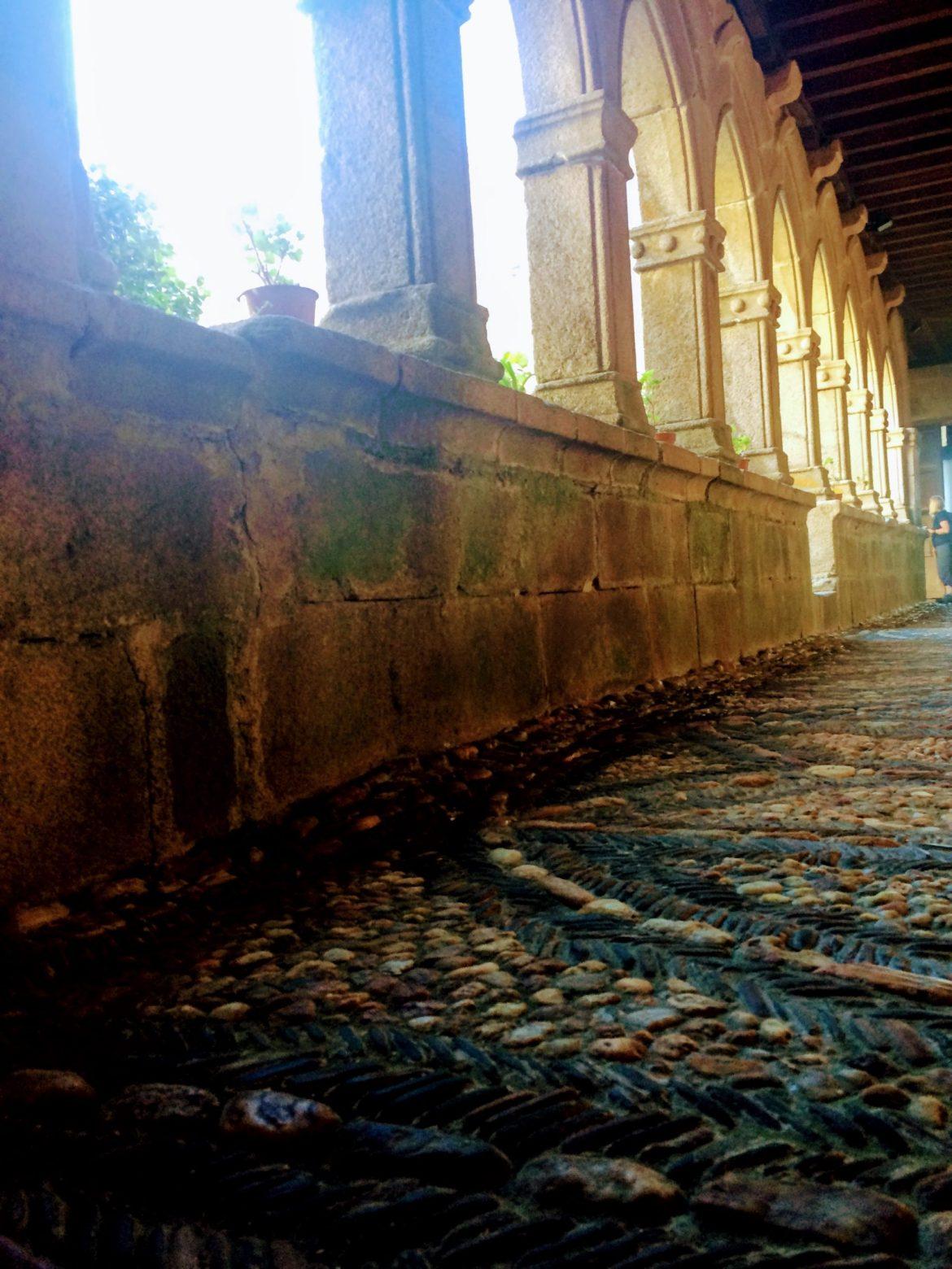 Camino Love, Camino de Santiago, cathedral courtyard in sarria