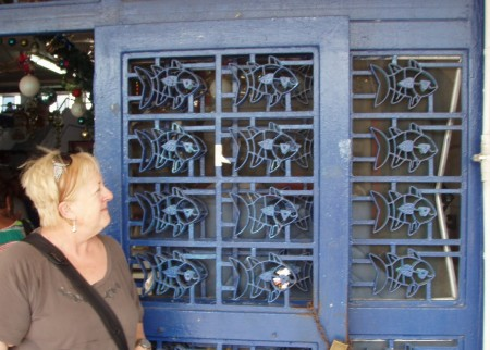 I loved these doors into the market.