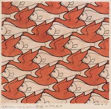 Escher tessellation fish